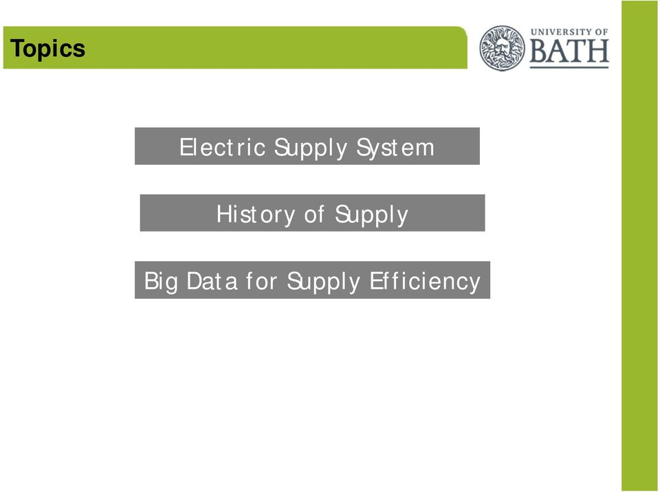Big Data for Supply