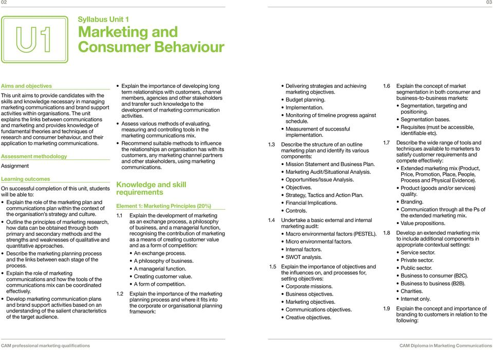 The unit explains the links between communications and marketing and provides knowledge of fundamental theories and techniques of research and consumer behaviour, and their application to marketing