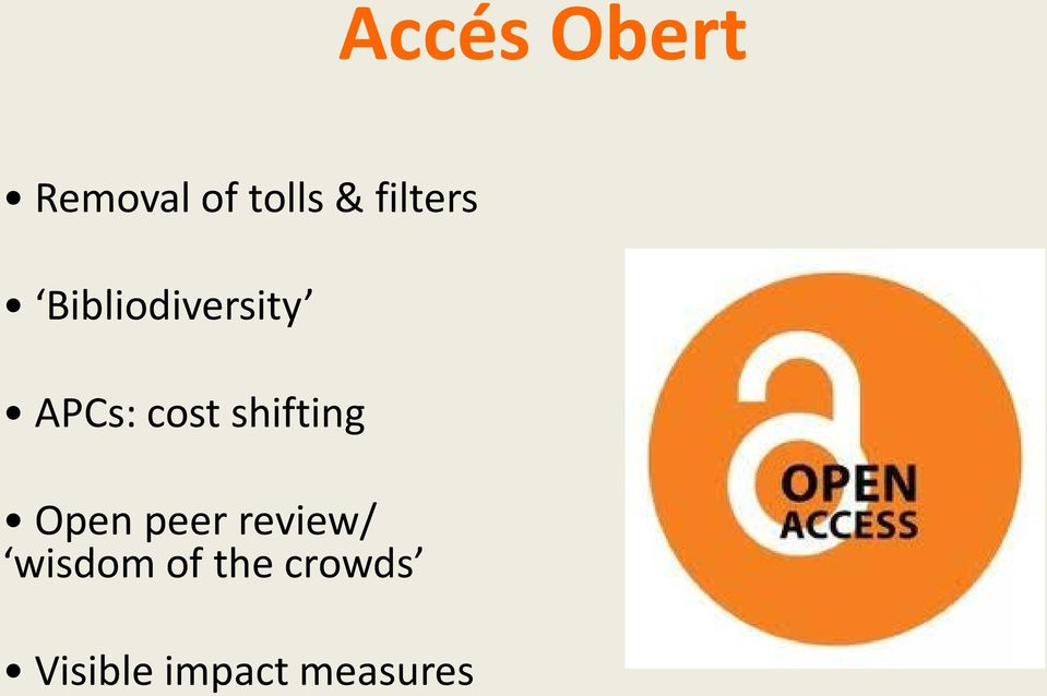 shifting Open peer review/ wisdom
