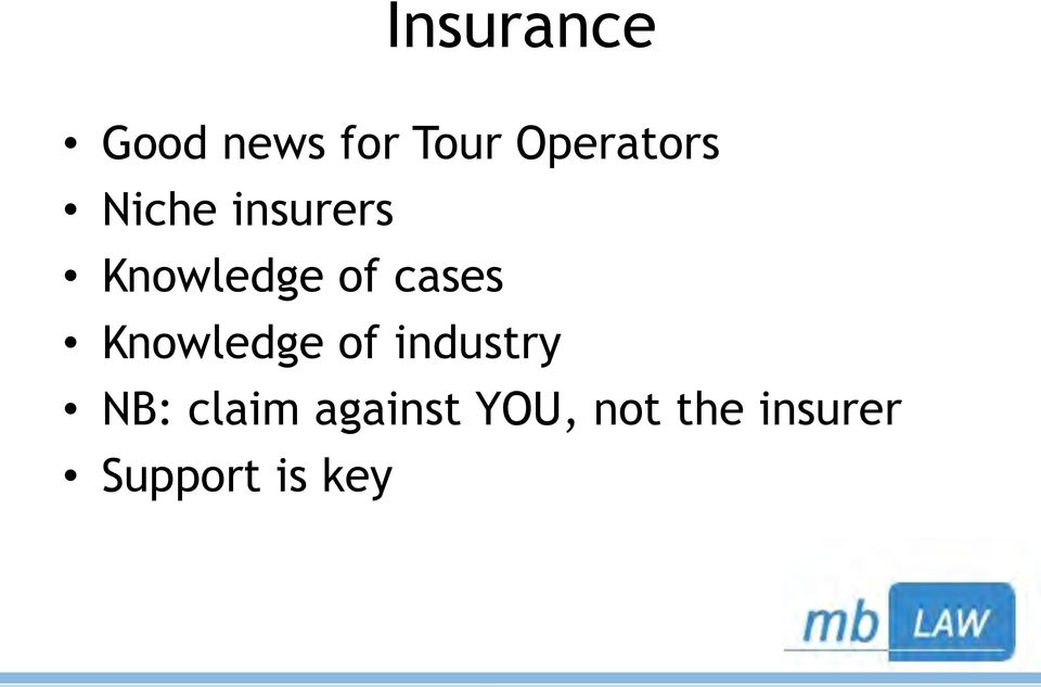 of cases Knowledge of industry NB: