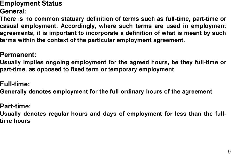 the particular employment agreement.
