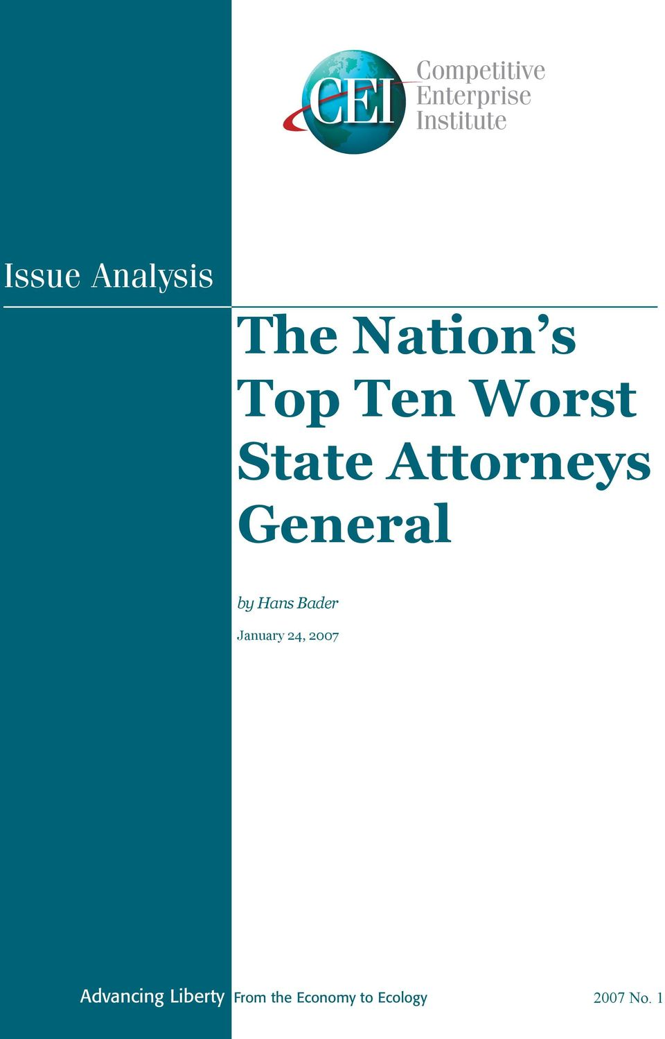Attorneys General by Hans Bader January 24,