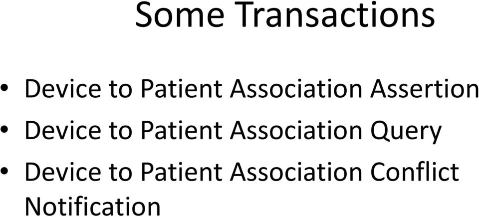 Patient Association Query Device to