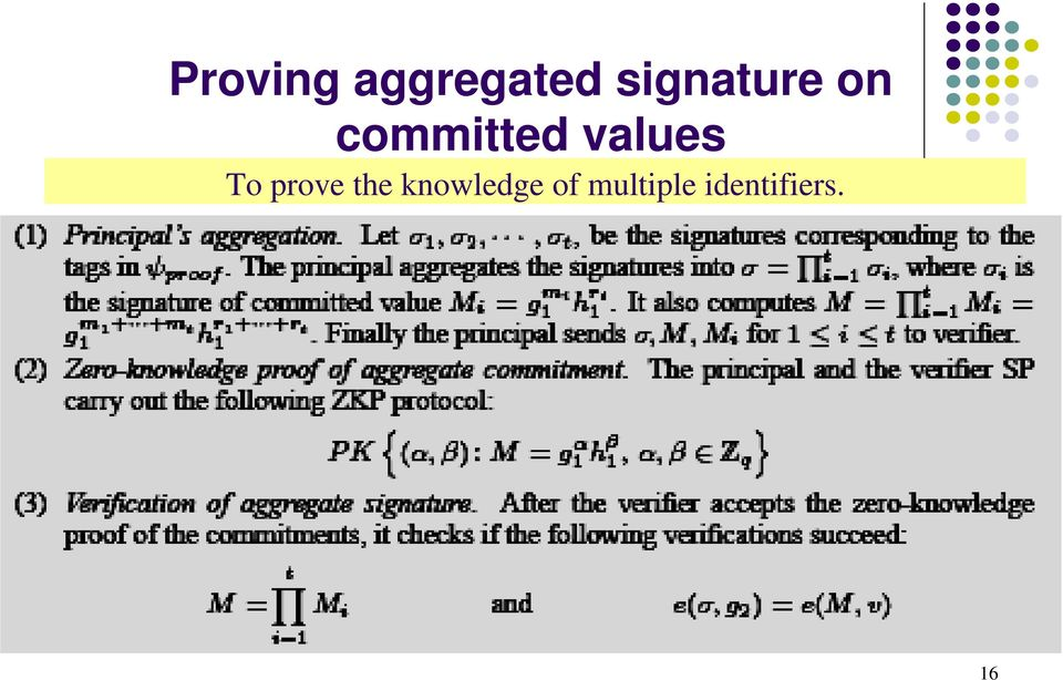 values To prove the