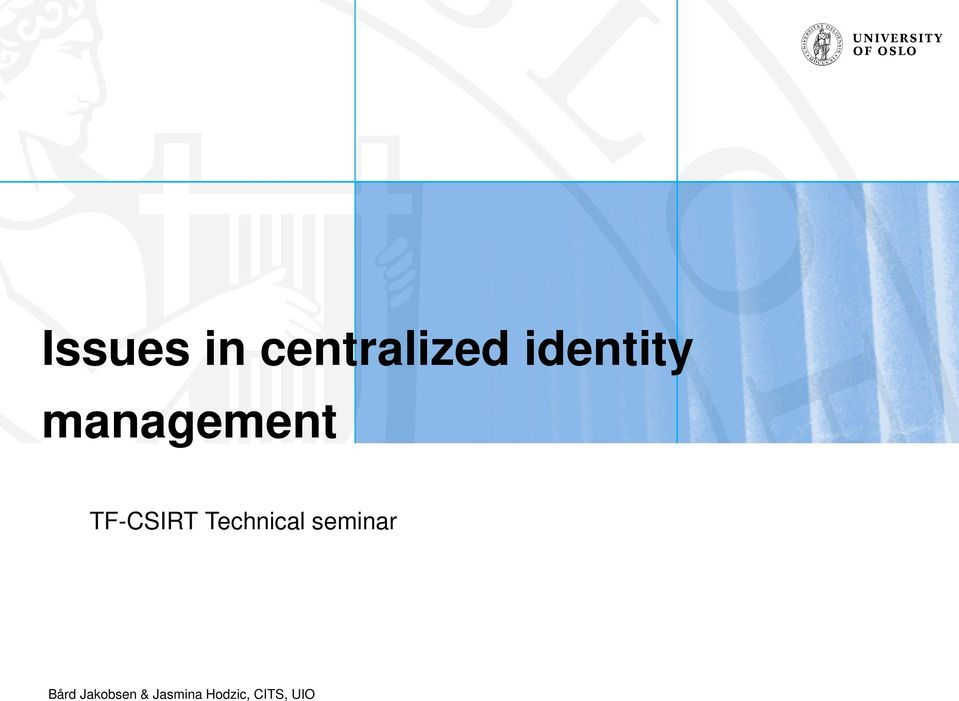 CSIRT Technical seminar