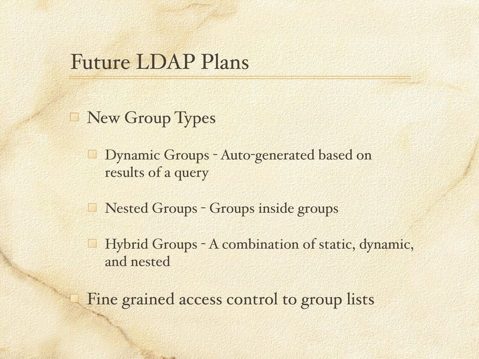 Groups inside groups Hybrid Groups - A combination of
