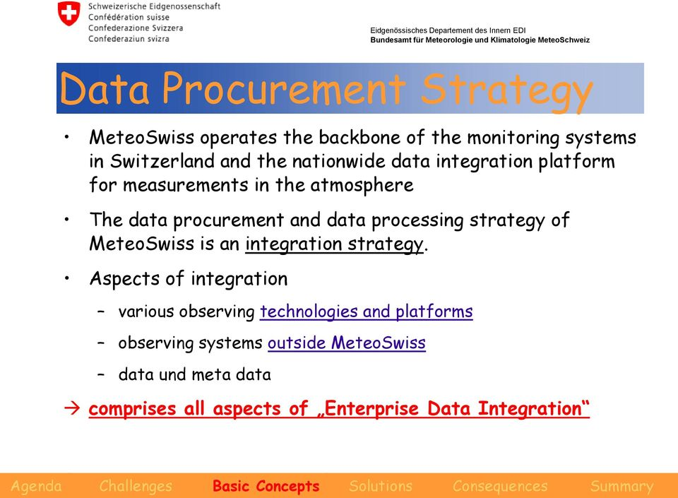 processing strategy of MeteoSwiss is an integration strategy.
