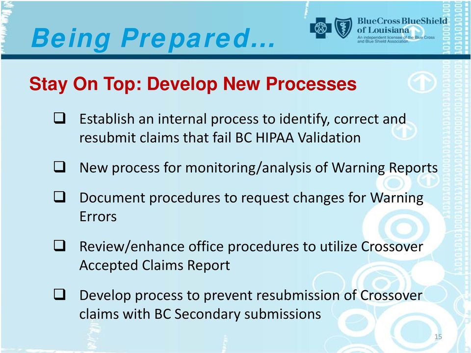 Document procedures to request changes for Warning Errors Review/enhance office procedures to utilize