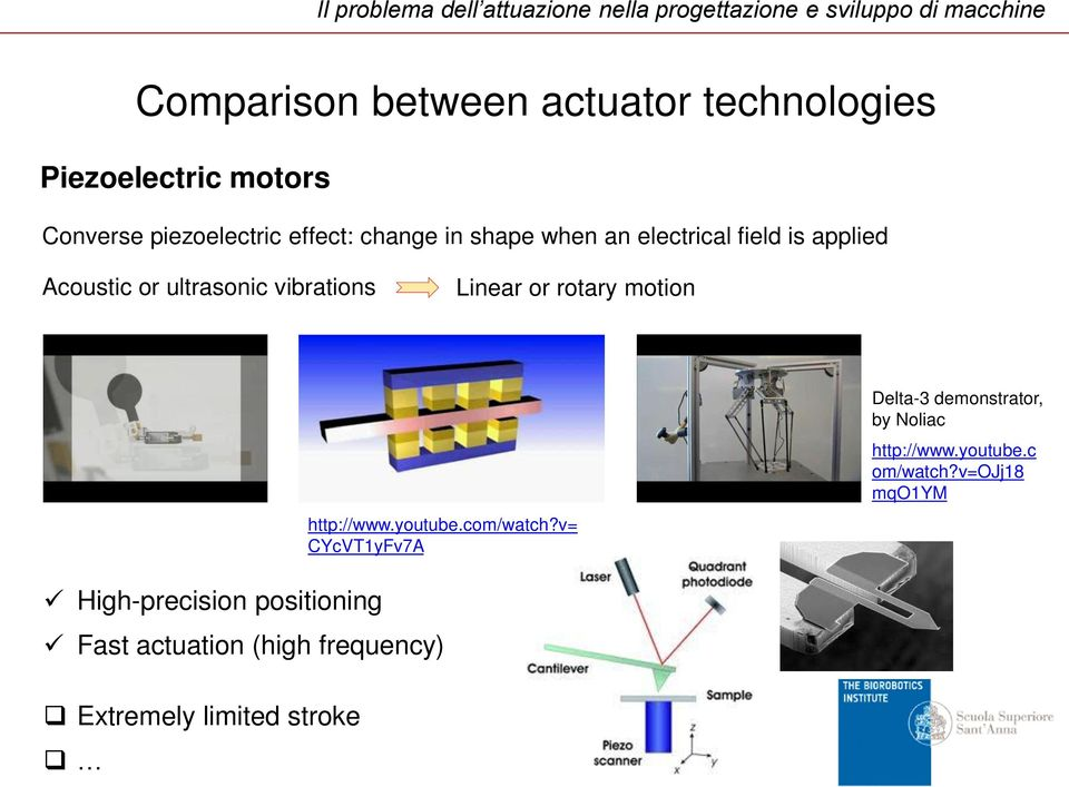 ultrasonic vibrations Linear or rotary motion http://www.youtube.com/watch?