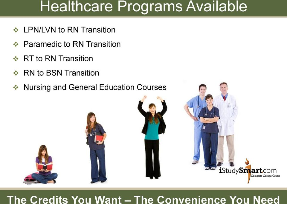 Transition RN to BSN Transition Nursing and General