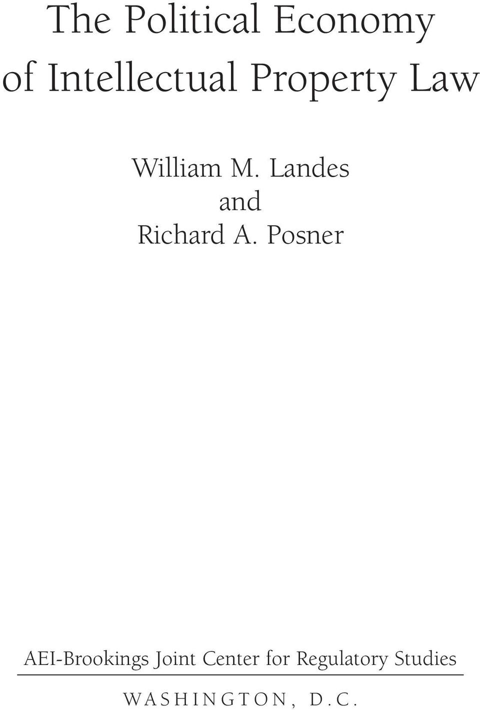 Landes and Richard A.