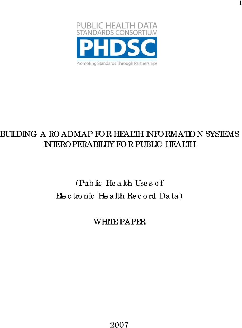 FOR PUBLIC HEALTH (Public Health Uses