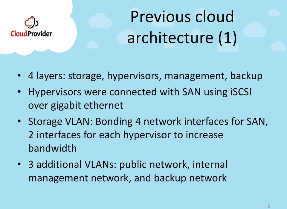 Bonding 4 network interfaces for SAN, 2 interfaces for each hypervisor to increase