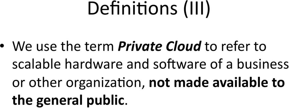 to refer to scalable hardware and solware