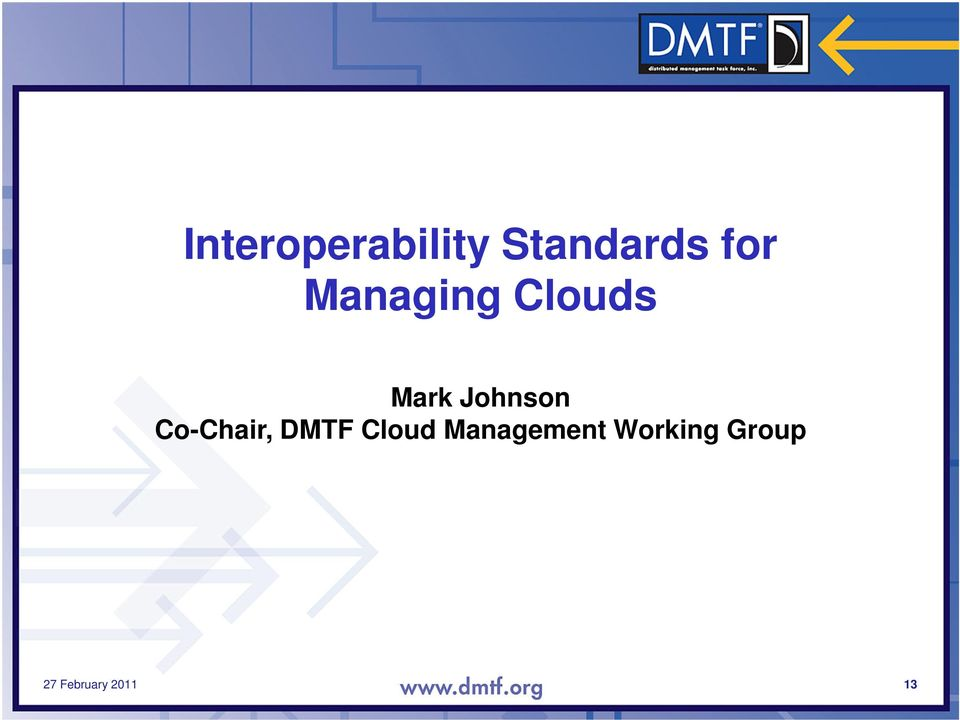 Co-Chair, DMTF Cloud Management