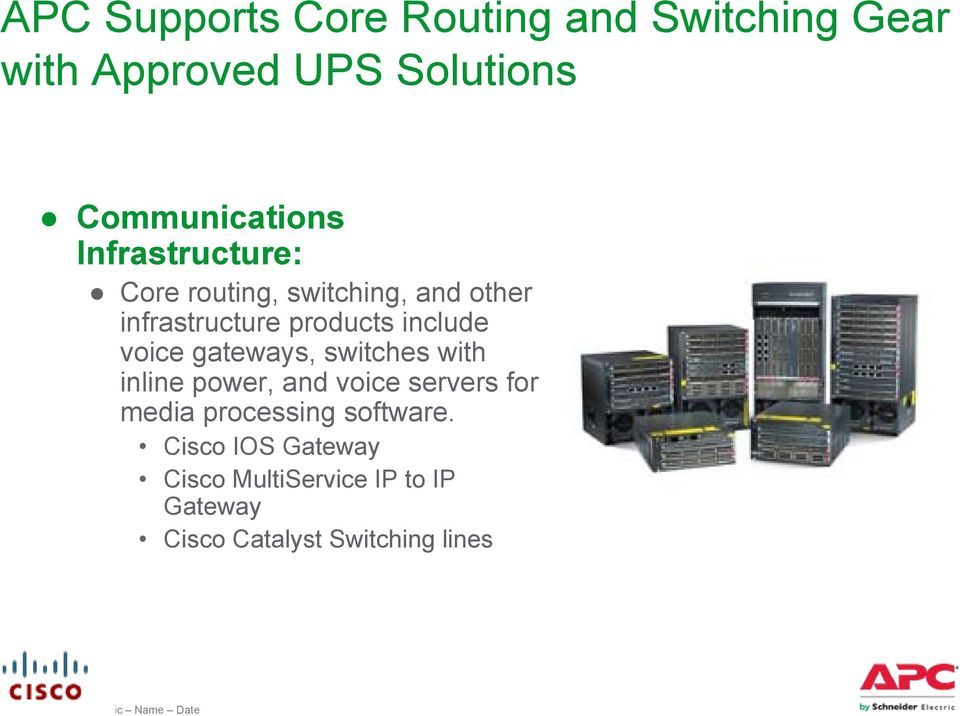 products include voice gateways, switches with inline power, and voice servers for