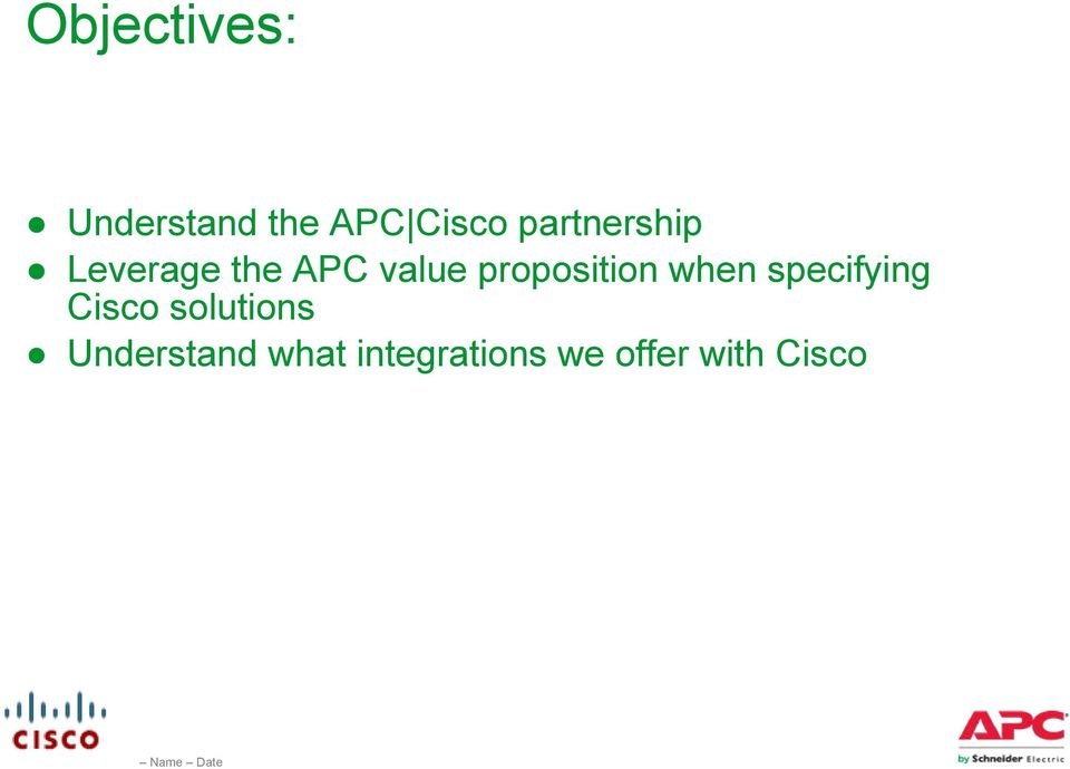 proposition when specifying Cisco