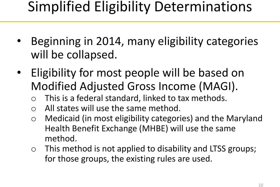 This is a federal standard, linked t tax methds. All states will use the same methd.