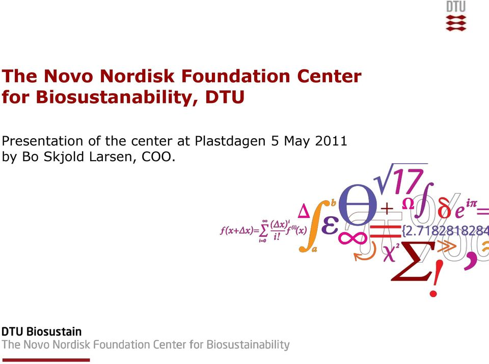 Presentation of the center at
