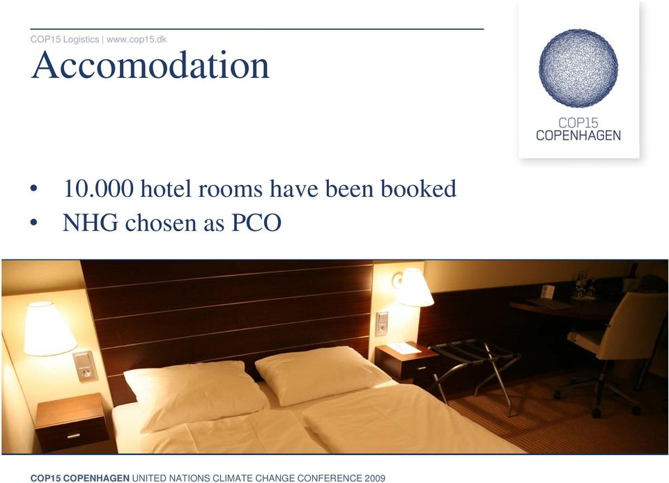 000 hotel rooms have been booked NHG