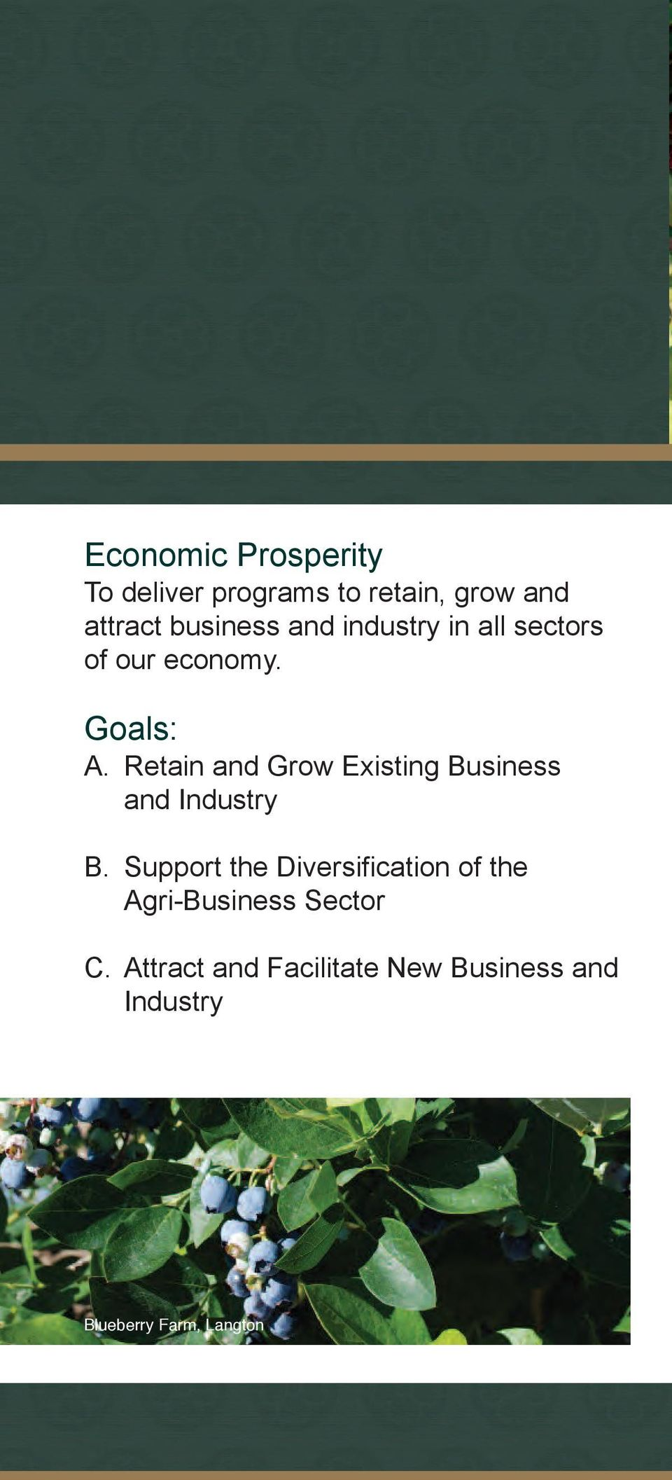Retain and Grow Existing Business and Industry B.