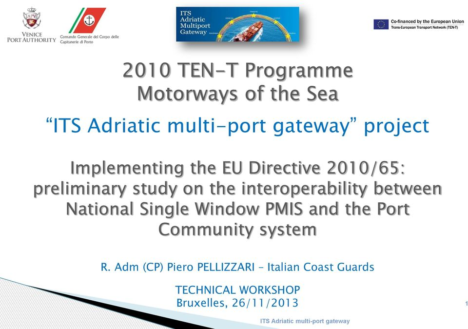 National Single Window PMIS and the Port Community system R.