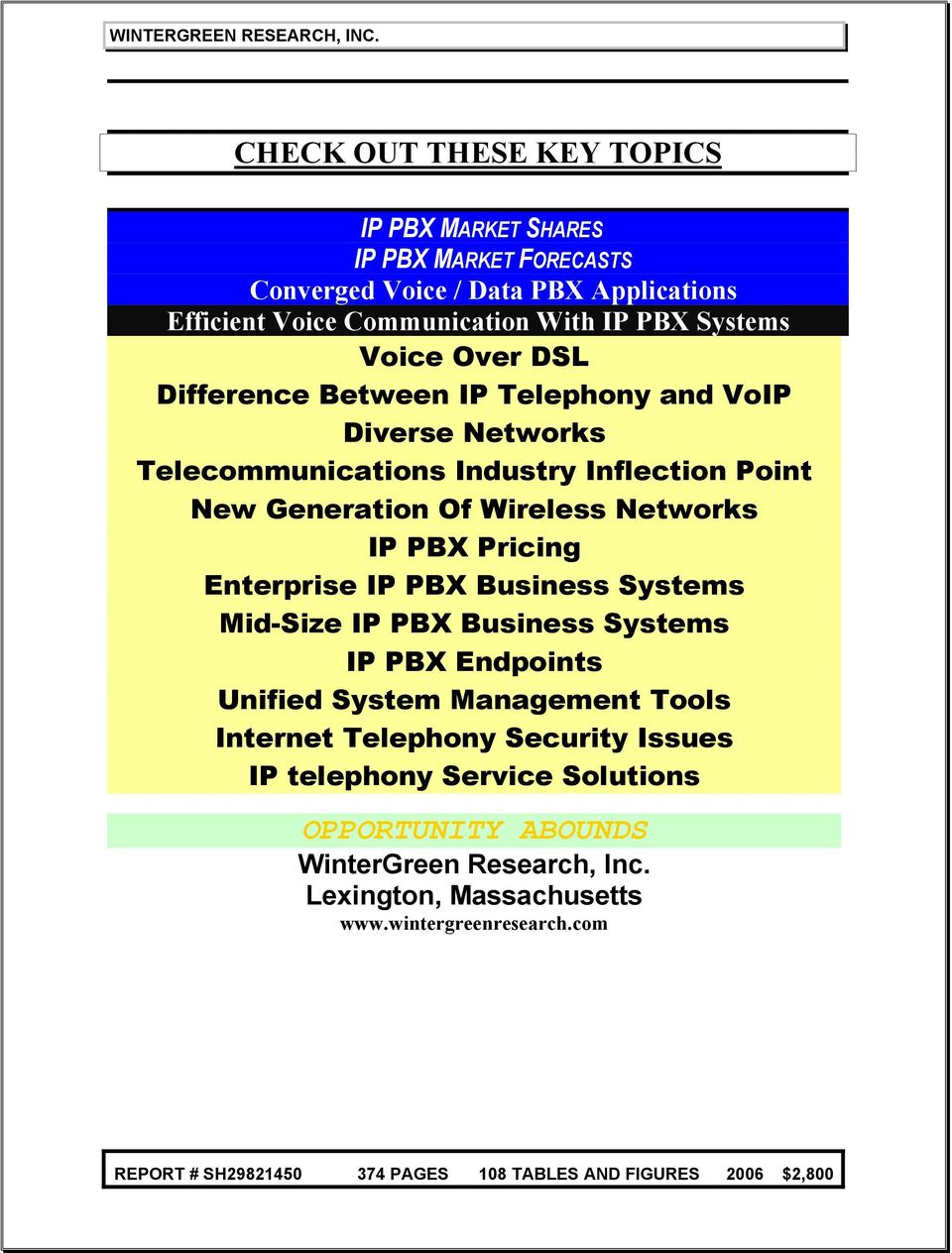 Networks IP PBX Pricing Enterprise IP PBX Business Systems Mid-Size IP PBX Business Systems IP PBX Endpoints Unified System Management Tools Internet