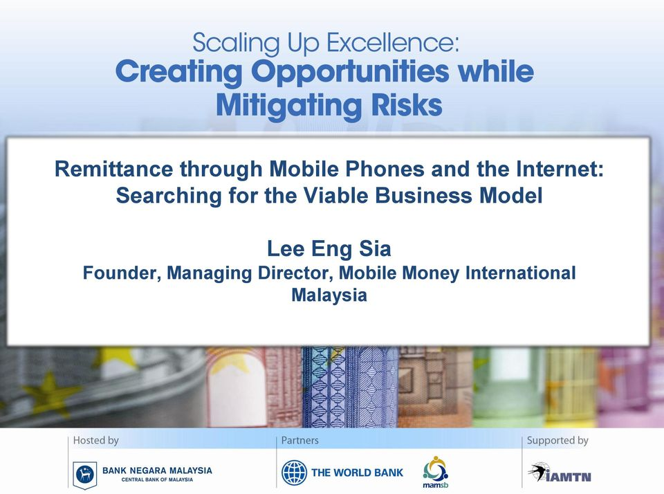 Business Model Lee Eng Sia Founder,