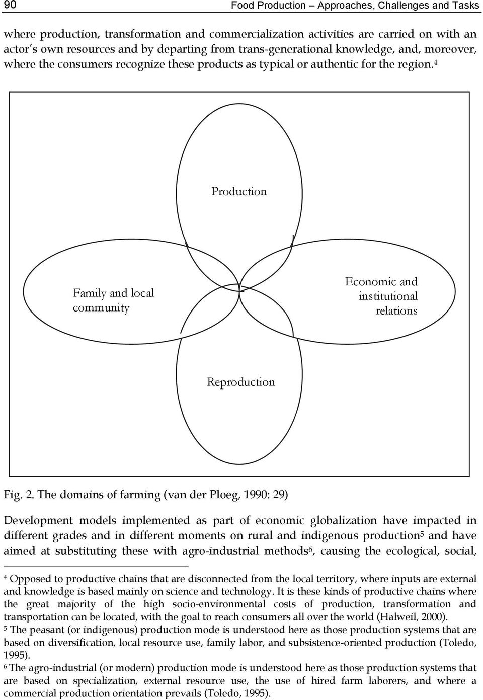 4 Production Family and local community Economic and institutional relations Reproduction Fig. 2.