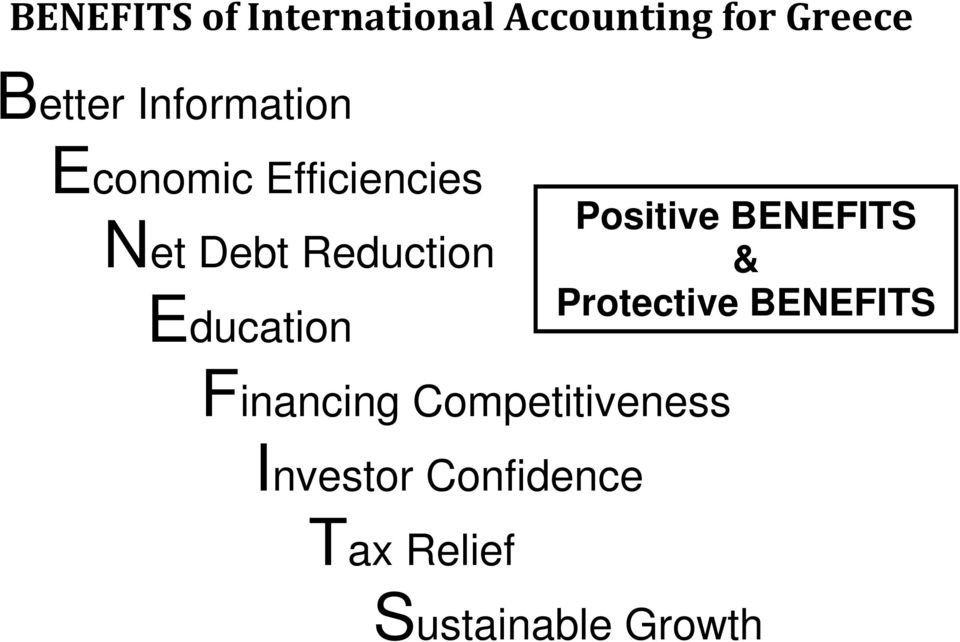 Competitiveness Investor Confidence Tax Relief