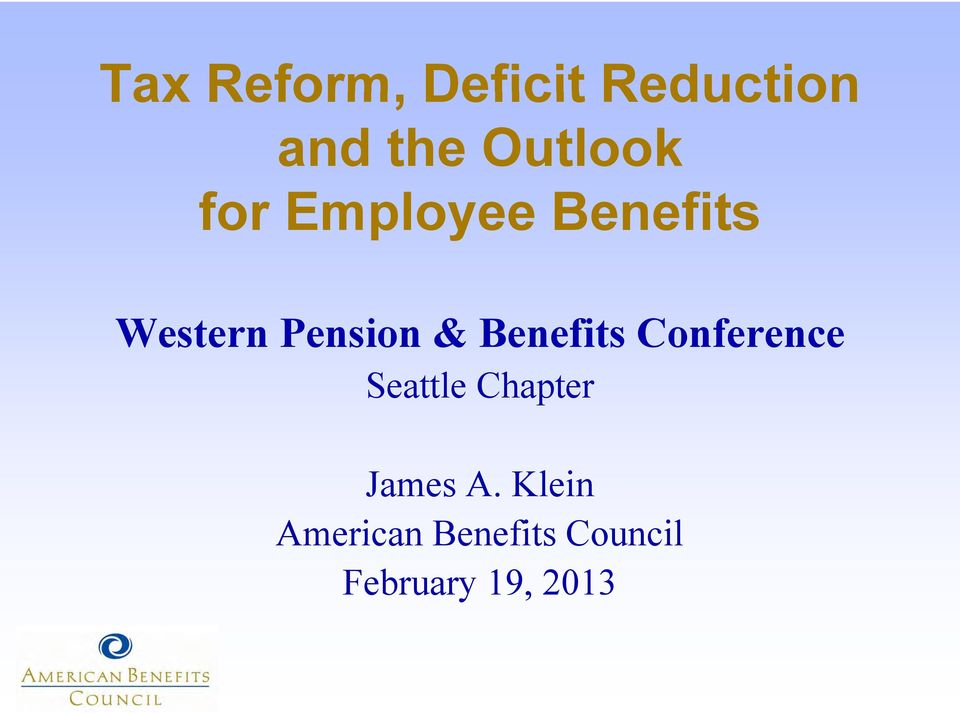 Pension & Benefits Conference Seattle