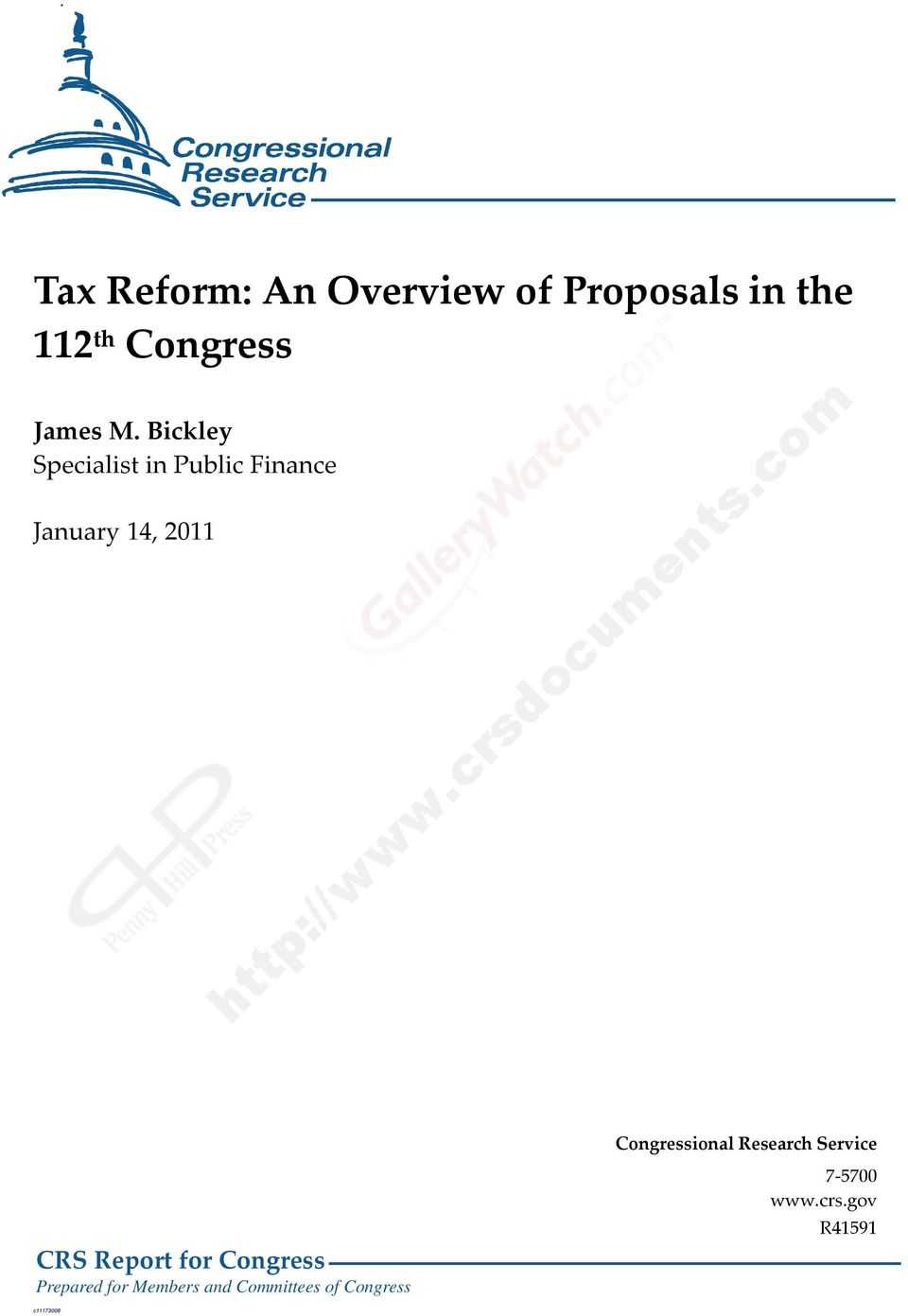 Congressional Research Service CRS Report for Congress Prepared
