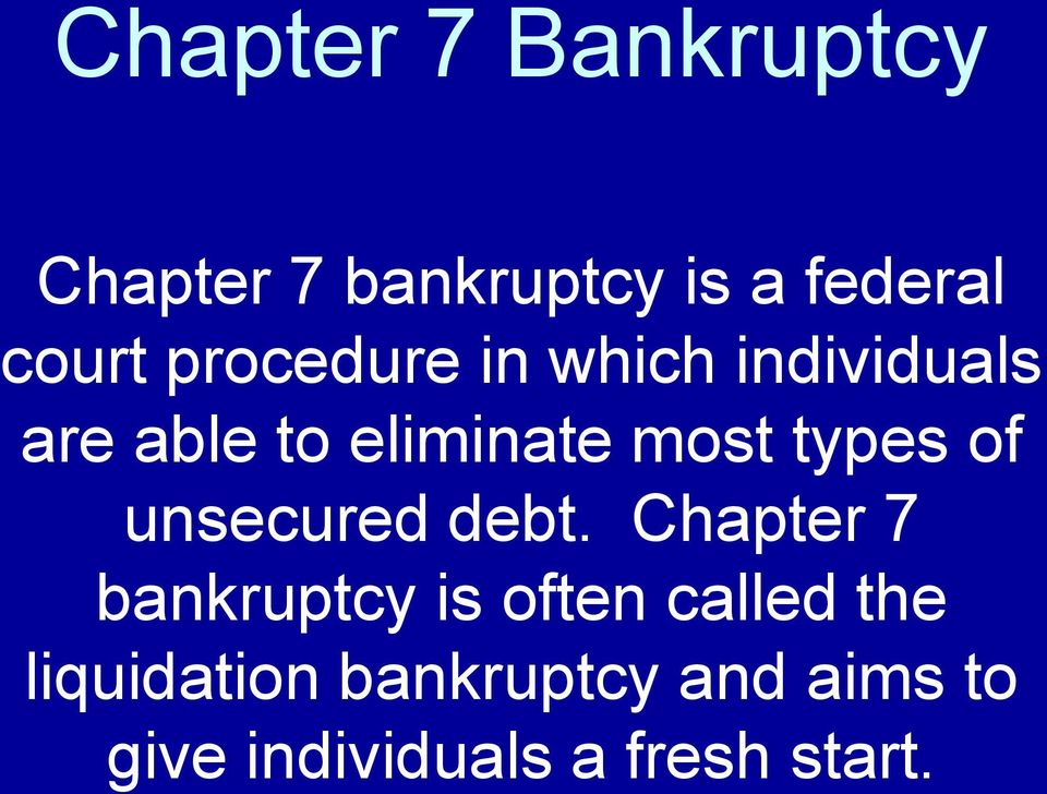 types of unsecured debt.