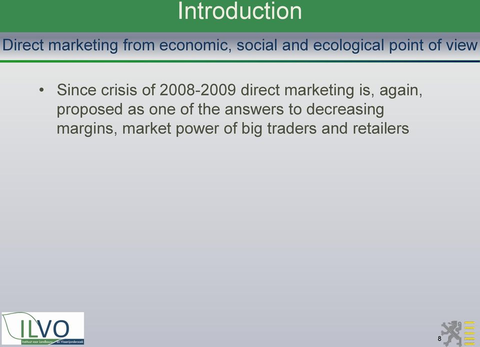 marketing is, again, proposed as one of the answers to