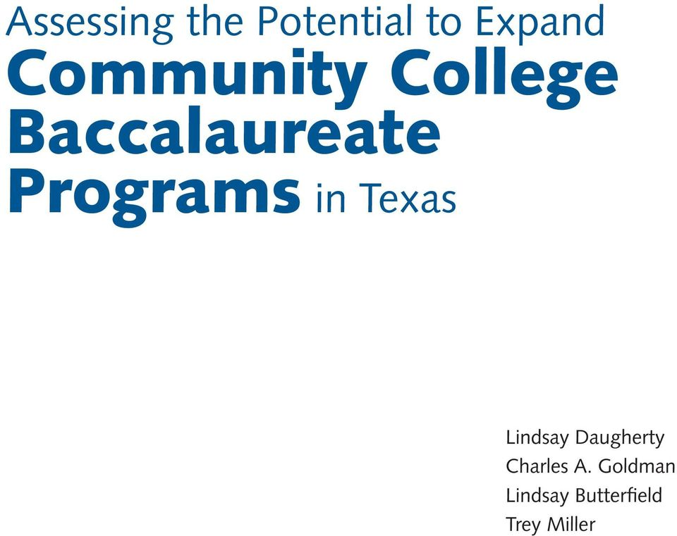 Programs in Texas Lindsay Daugherty