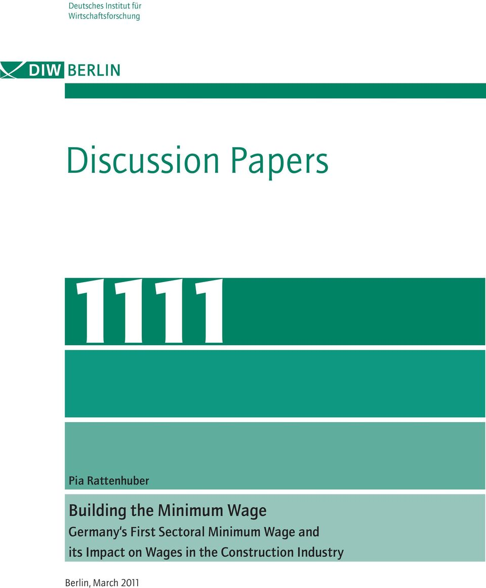 Minimum Wage Germany s First Sectoral Minimum Wage and