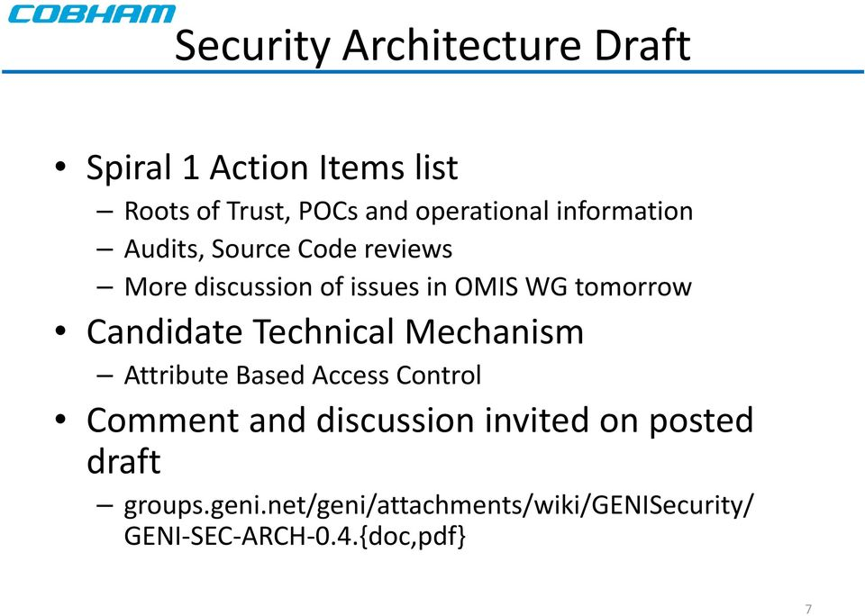 Candidate Technical Mechanism Attribute Based Access Control Comment and discussion invited