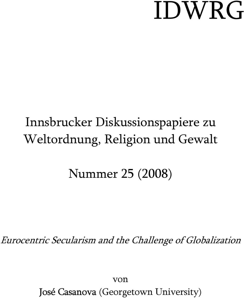 (2008) Eurocentric Secularism and the