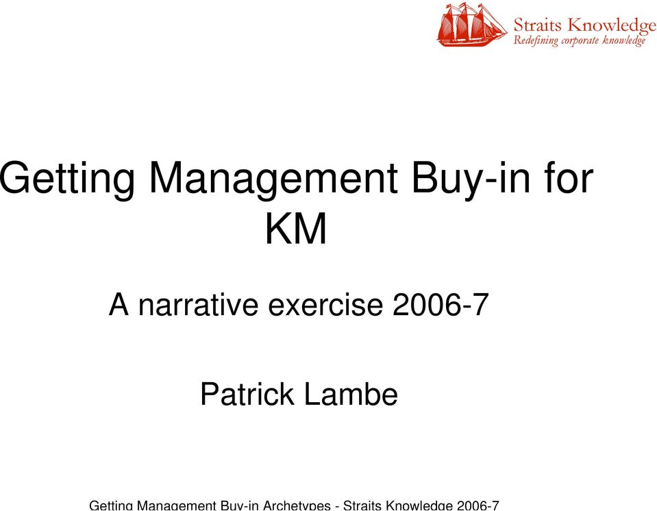 Lambe Getting Management Buy-in