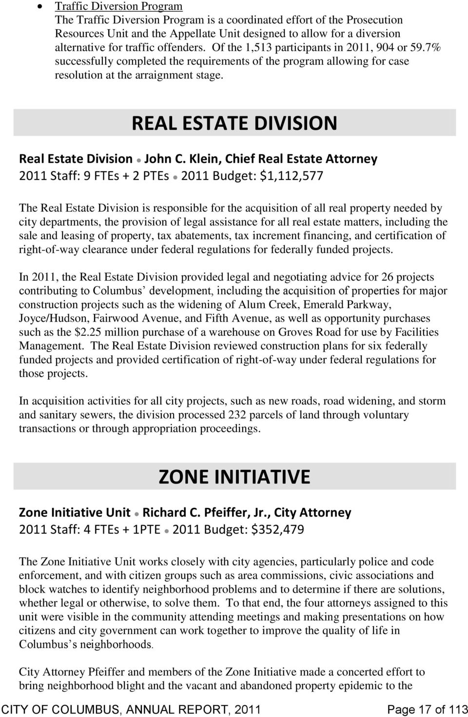 REAL ESTATE DIVISION Real Estate Division John C.
