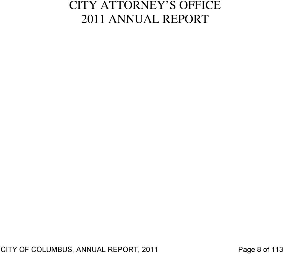 OF COLUMBUS, ANNUAL