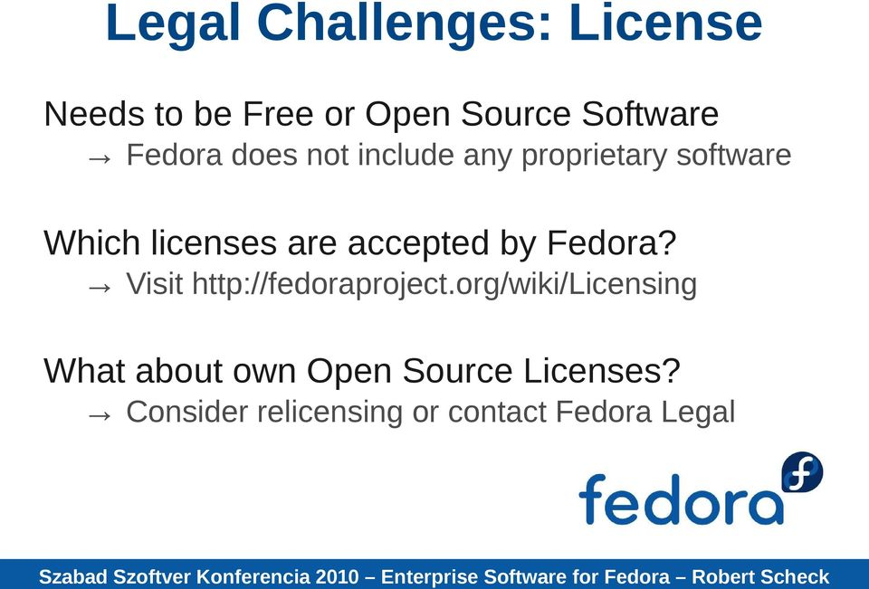 accepted by Fedora? Visit http://fedoraproject.