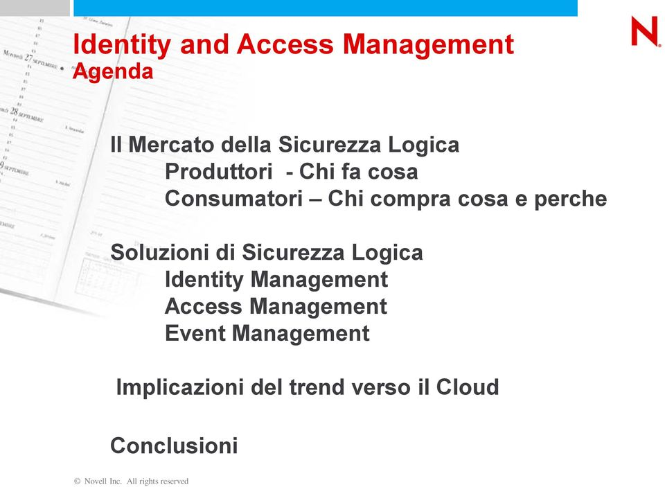 Sicurezza Logica Identity Management Access Management Event Management