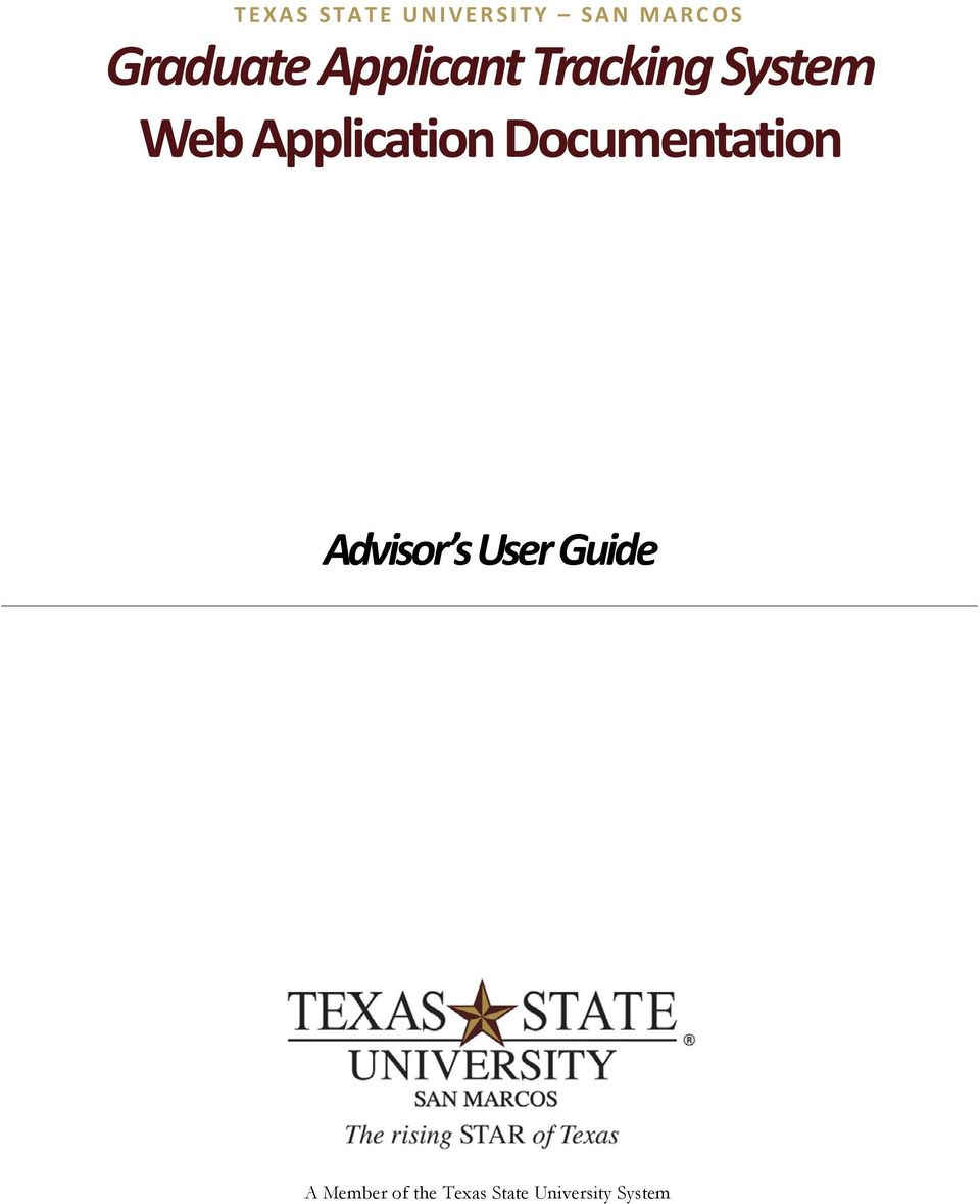 Application Documentation Advisor s User