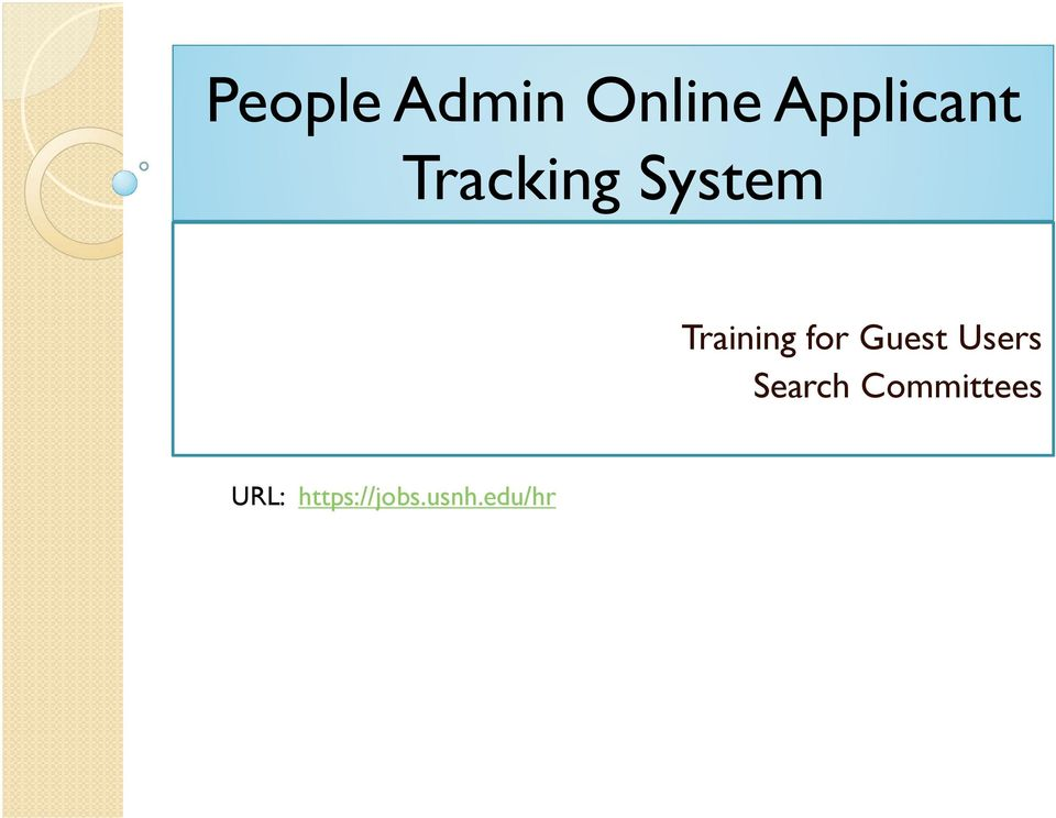 Guest Users Search Committees