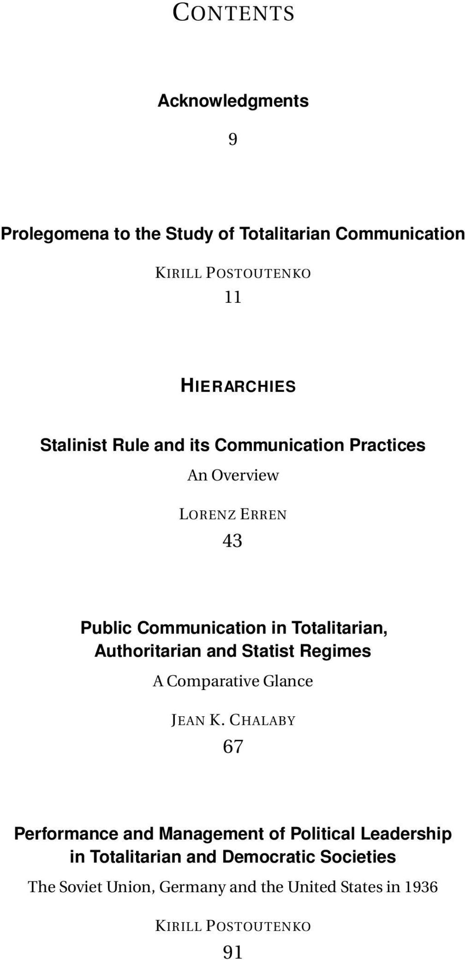 Authoritarian and Statist Regimes A Comparative Glance JEAN K.