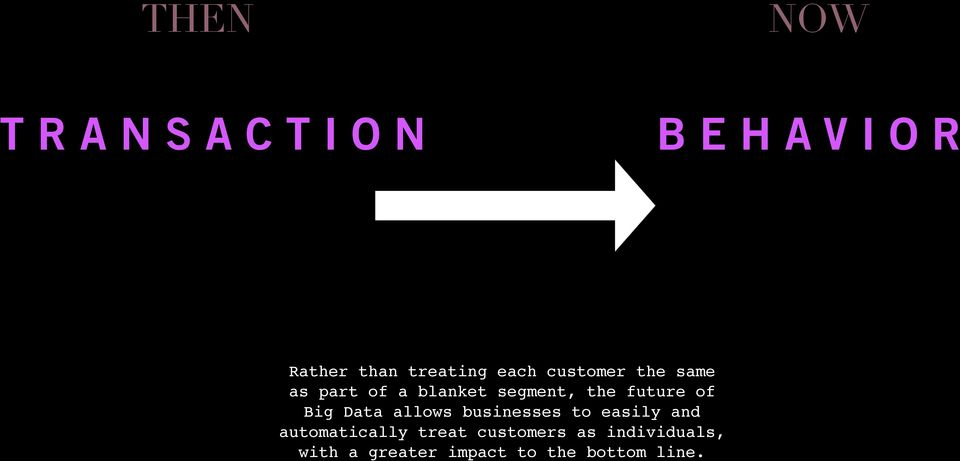 Big Data allows businesses to easily and automatically treat