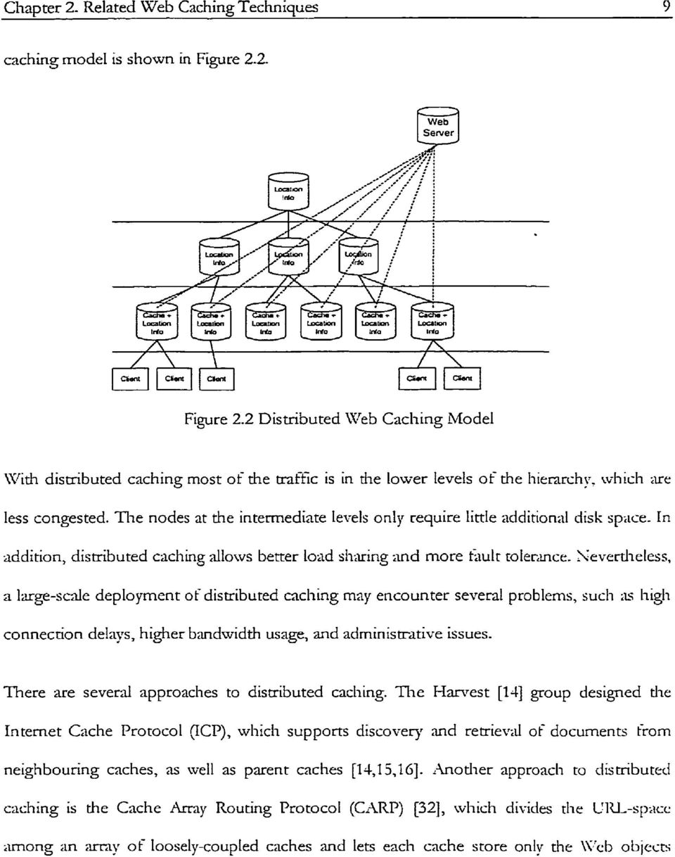 The nodes at the interrnediate levels only require Little additional disk spiice. In addition, distributed caching dlows better load sharing and more hlt roler.uicr.
