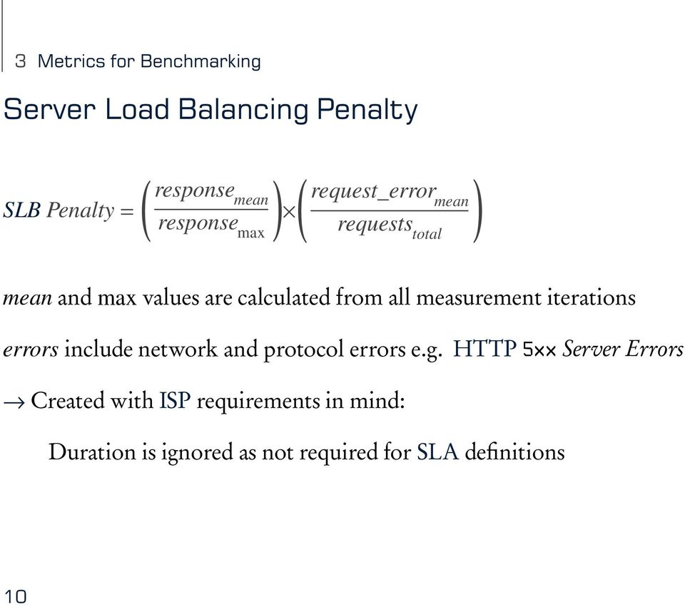 all measurement iterations errors include network and protocol errors e.g.