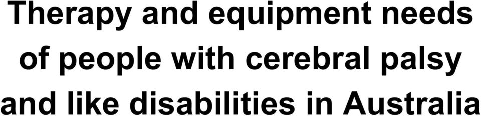 cerebral palsy and